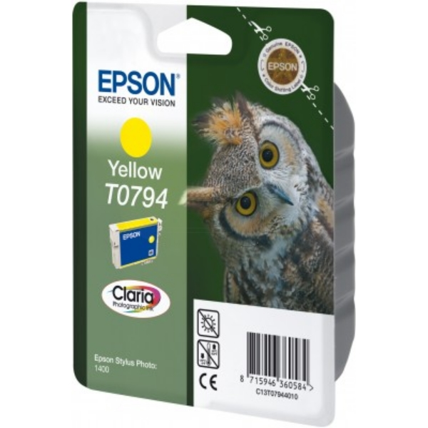 EPSON C13T07944010 (T0794) INK CARTRIDGE YELLOW, 975 PAGES, 11ML