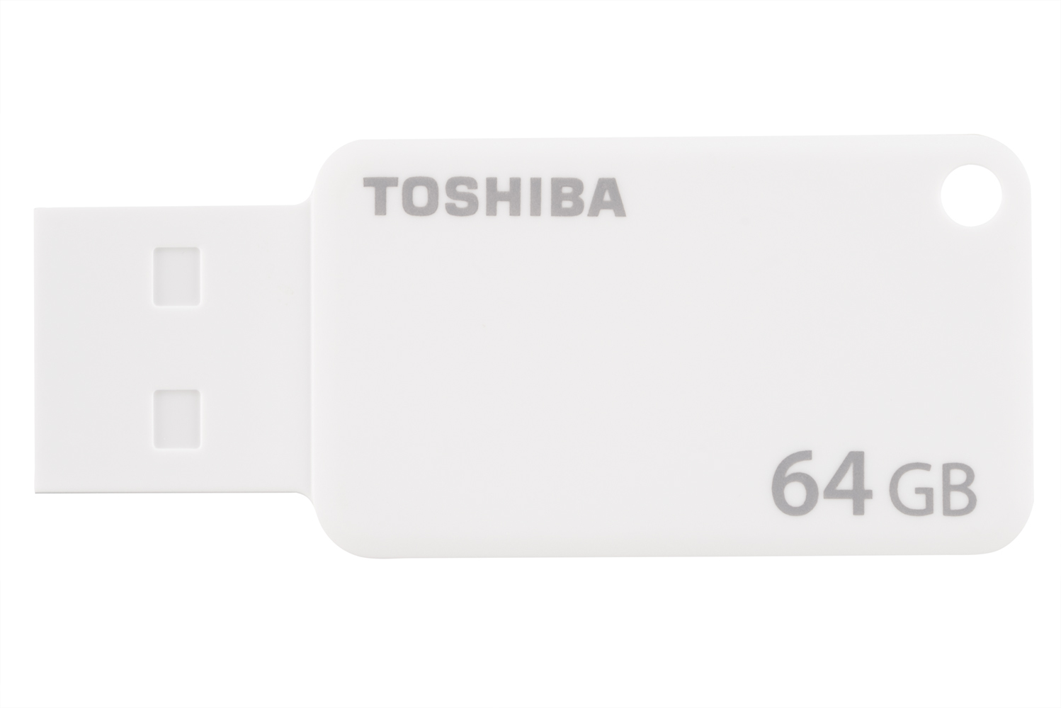 TOSHIBA TRANSMEMORY U303 64GB USB 3.0 (3.1 GEN 1) TYPE-A CONNECTOR WHITE FLASH DRIVE