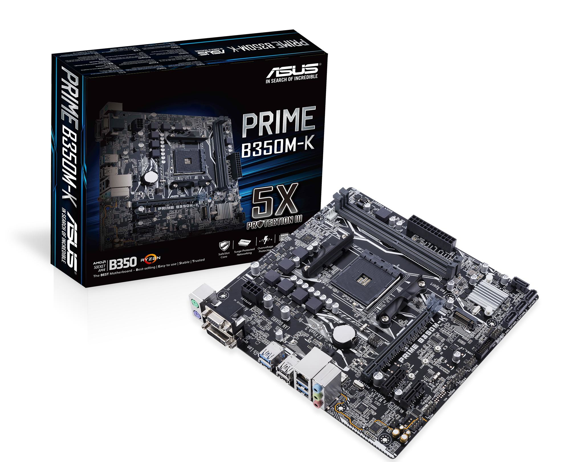 ASUS B350M-K AMD B350 SOCKET AM4 MICRO ATX