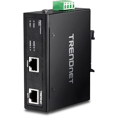TRENDNET TI-IG30 HARDENED INDUSTRIAL GIGABIT POE+ INJECTOR, 1 PORT, IP30