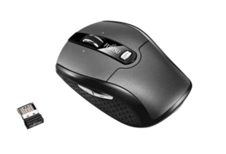 FUJITSU WI610 RF WIRELESS LASER 2000DPI AMBIDEXTROUS BLACK MICE