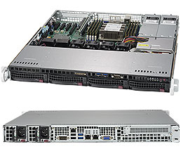 SUPERMICRO SUPERSERVER 5019P-MTR INTEL C622 LGA 3647 1U BLACK