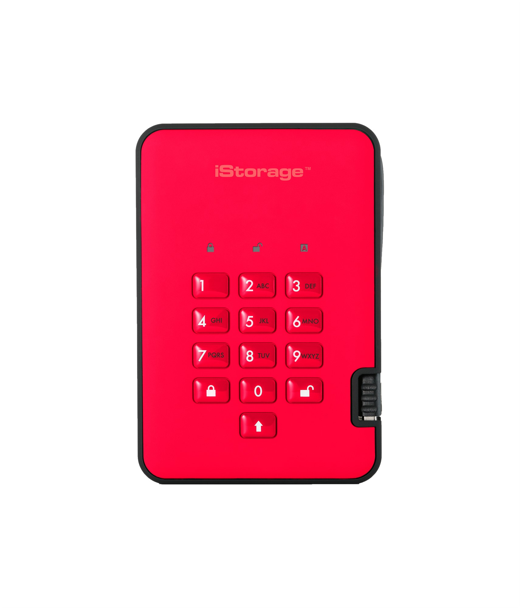 ISTORAGE IS-DA2-256-500-R DISKASHUR 2 500GB RED EXTERNAL HARD DRIVE