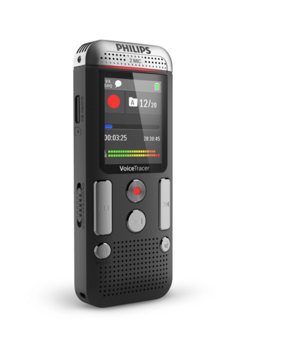 PHILIPS 2000 SERIES DVT2510 INTERNAL MEMORY & FLASH CARD ANTHRACITE, CHROME DICTAPHONE