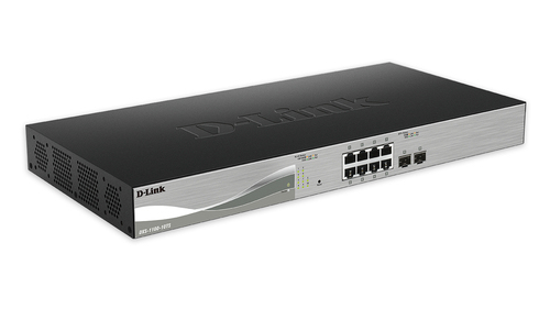 D-LINK DXS-1100-10TS MANAGED L2/L3 10G ETHERNET (100/1000/10000) 1U BLACK