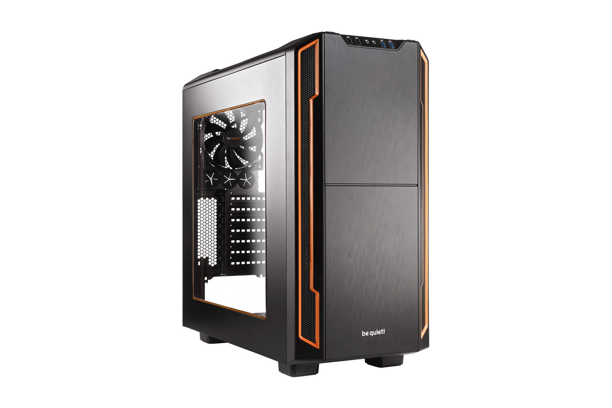 BE QUIET! BGW05 SILENT BASE 600 ORANGE,BLACK COMPUTER CASE