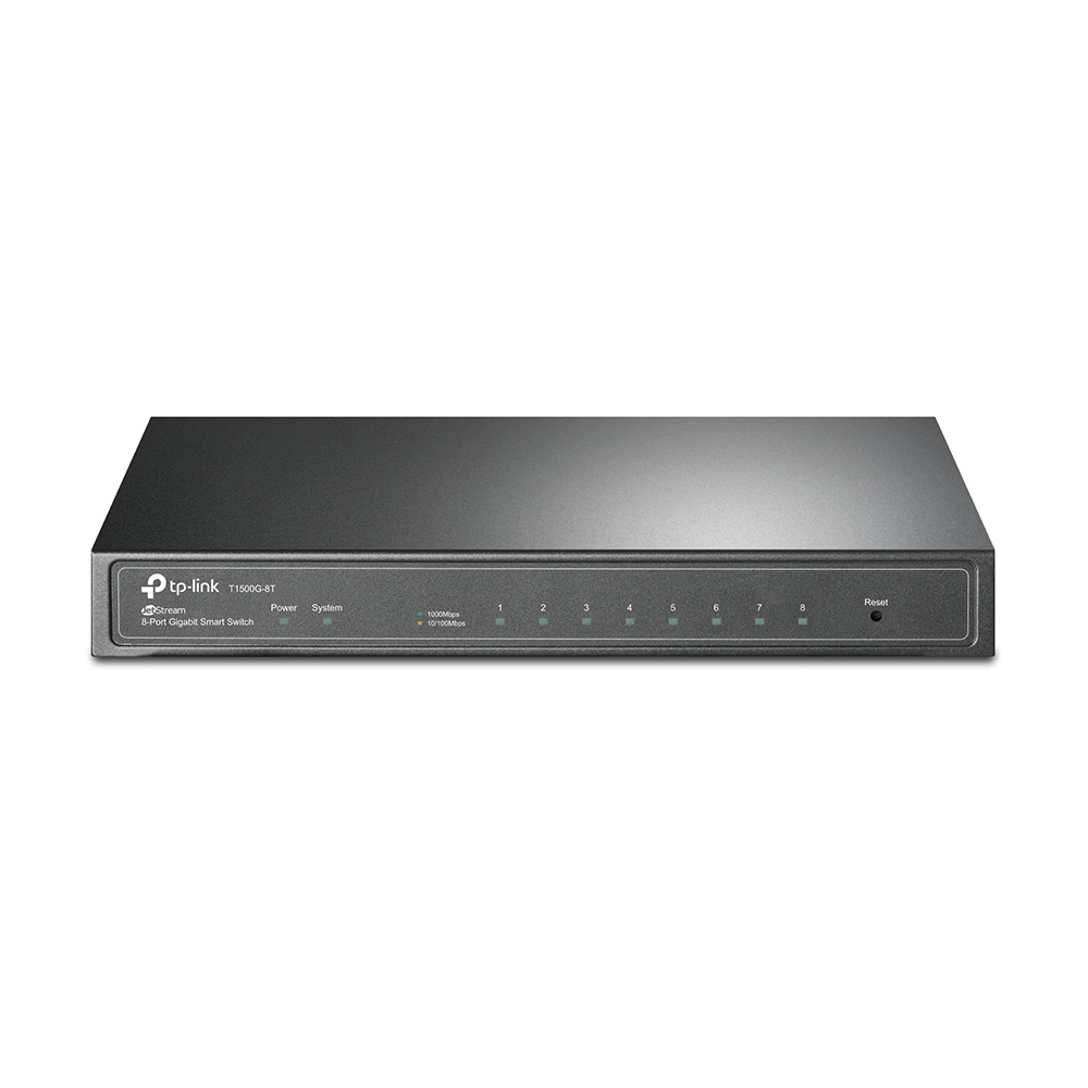 TP-LINK T1500G-8T MANAGED L2/L3/L4 GIGABIT ETHERNET POWER OVER (POE) BLACK