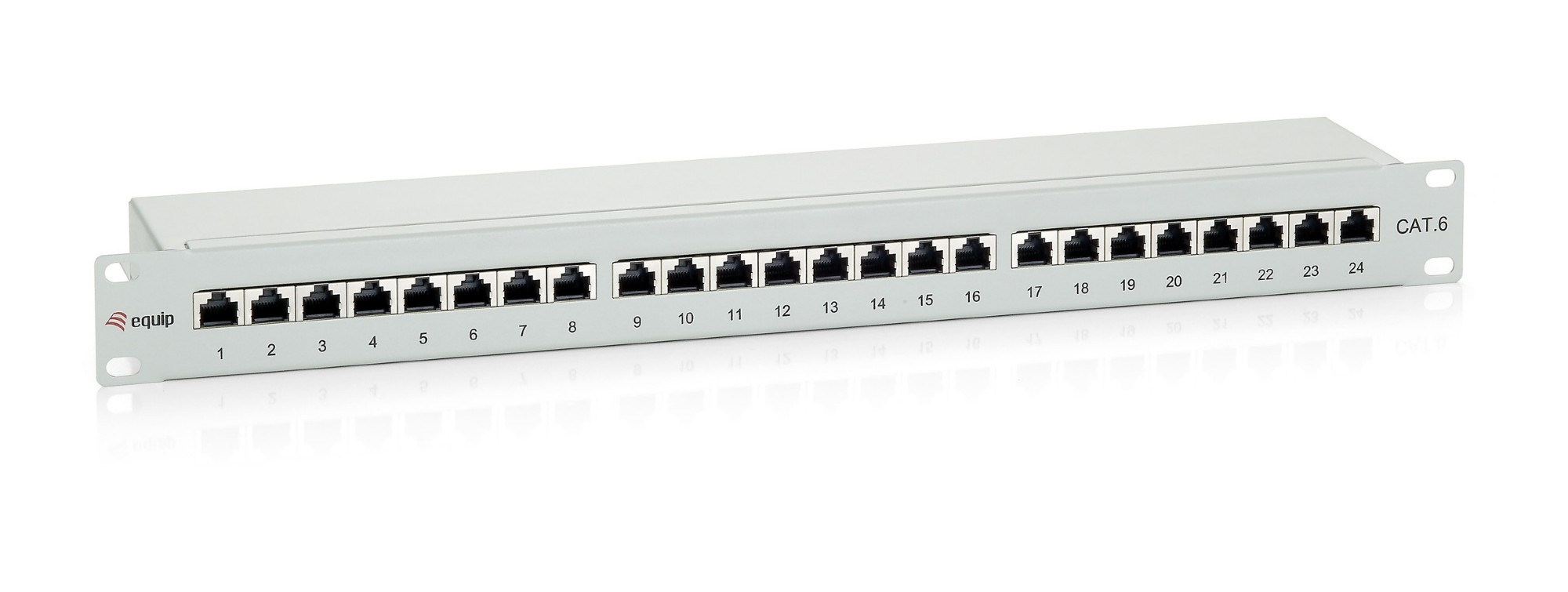 EQUIP 326324 24-PORT CAT.6 SHIELDED PATCH PANEL