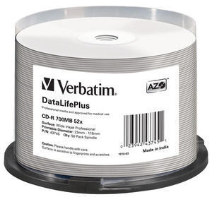 VERBATIM 43745 DATALIFEPLUS CD-R 700MB 50PC(S)