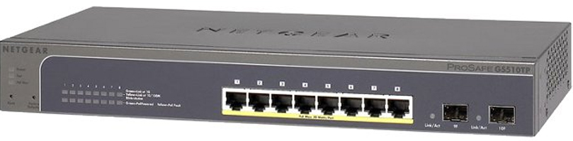 NETGEAR GS510TP MANAGED NETWORK SWITCH POWER OVER ETHERNET (POE) GREY
