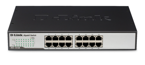 D-LINK 16-PORT 10/100/1000 RACKMOUNTABLE SWITCH UNMANAGED NETWORK