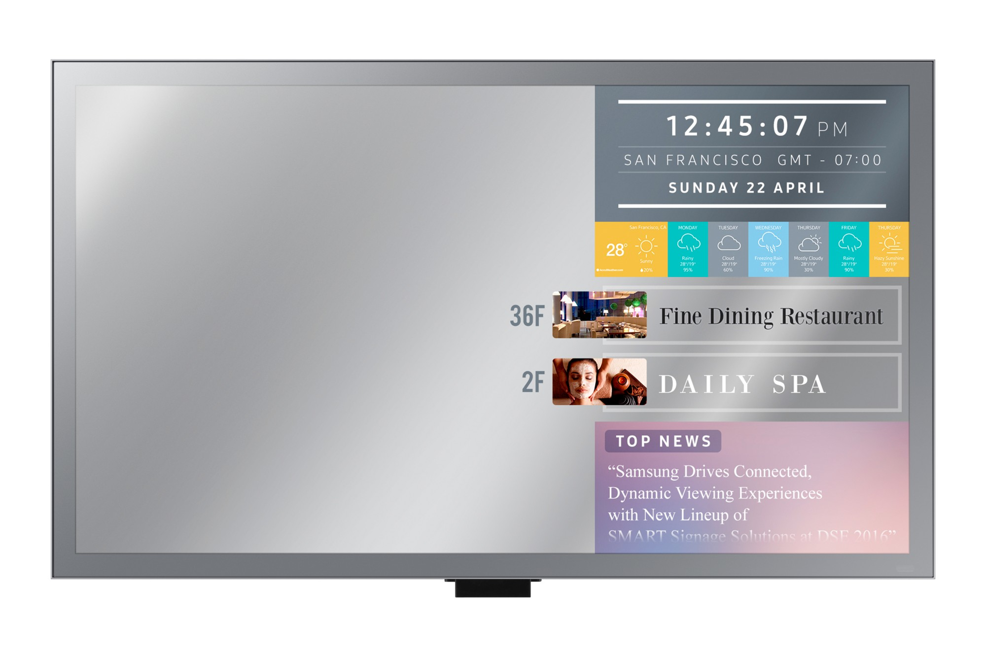 SAMSUNG ML55E DIGITAL SIGNAGE FLAT PANEL 55
