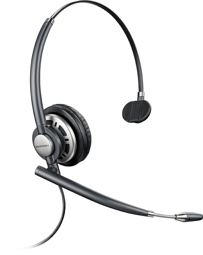 PLANTRONICS 78715-101 ENCOREPRO HW710D MONAURAL HEAD-BAND BLACK, SILVER HEADSET