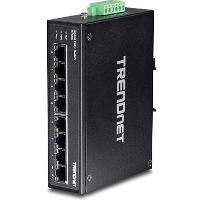 TRENDNET TI-PG80 8 X RJ-45, GIGABIT ETHERNET, POE+, IP30