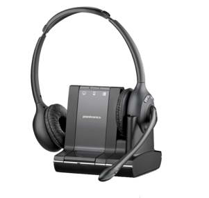 PLANTRONICS 84004-02 SAVI W720-M BINAURAL HEAD-BAND BLACK HEADSET