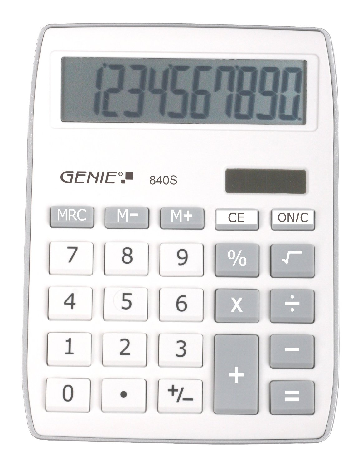 GENIE CCTV 12262 840S SILVER CALCULATOR