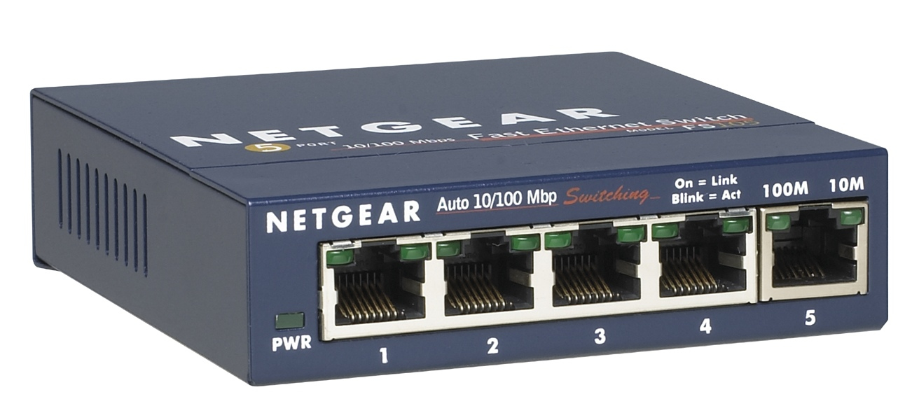 NETGEAR FS105-300PES UNMANAGED NETWORK SWITCH L2 FAST ETHERNET (10/100) BLUE