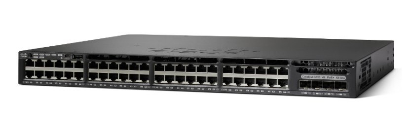 CISCO WS-C3650-48PS-S CATALYST MANAGED L3 GIGABIT ETHERNET POWER OVER (POE) 1U BLACK NETWORK SWITCH