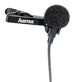 HAMA 46109 LM-09 LAVALIER MICROPHONE WIRED BLACK