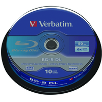 VERBATIM 43746 BD-R DL 50GB 6 X 10 PACK SPINDLE 10PC(S)
