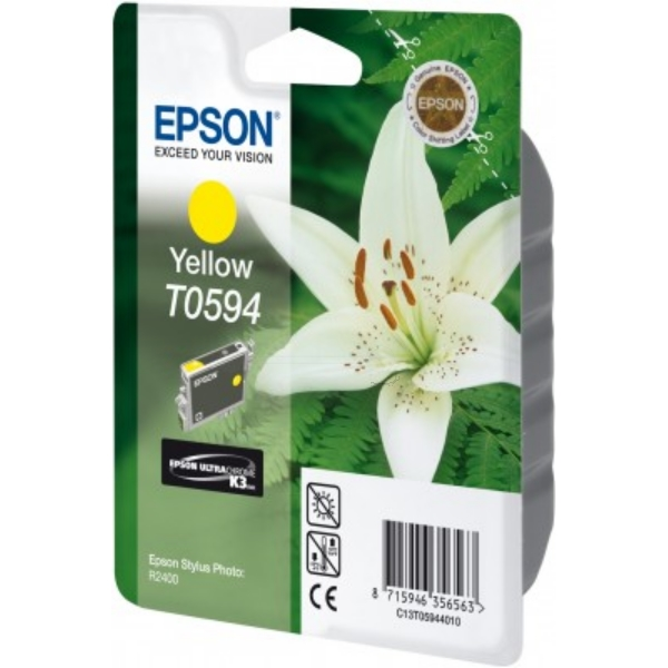 EPSON C13T05944020 (T0594) INK CARTRIDGE YELLOW, 13ML