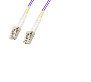 MICROCONNECT FIB440401P 1M LC/PC PURPLE FIBER OPTIC CABLE