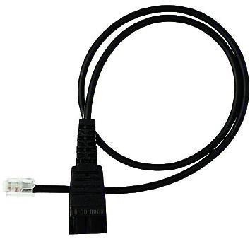 JABRA QD CORD, STRAIGHT, MOD PLUG RJ11 BLACK CABLE INTERFACE/GENDER ADAPTER