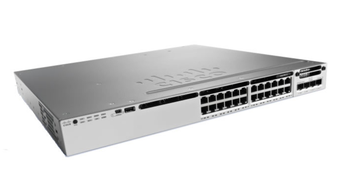 CISCO WS-C3850-24S-S 3850-24S-S MANAGED NETWORK SWITCH NONE 1U BLACK, GREY