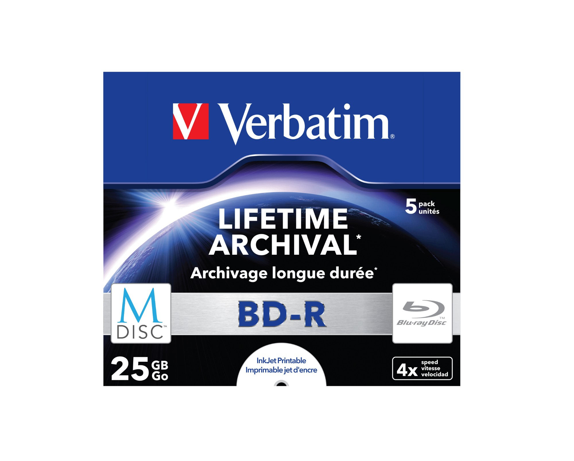 VERBATIM 43823 M-DISC 4X BD-R 25GB 5PC(S)