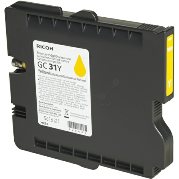 RICOH 405691 (GC-31 Y) YELLOW, 1.75K PAGES