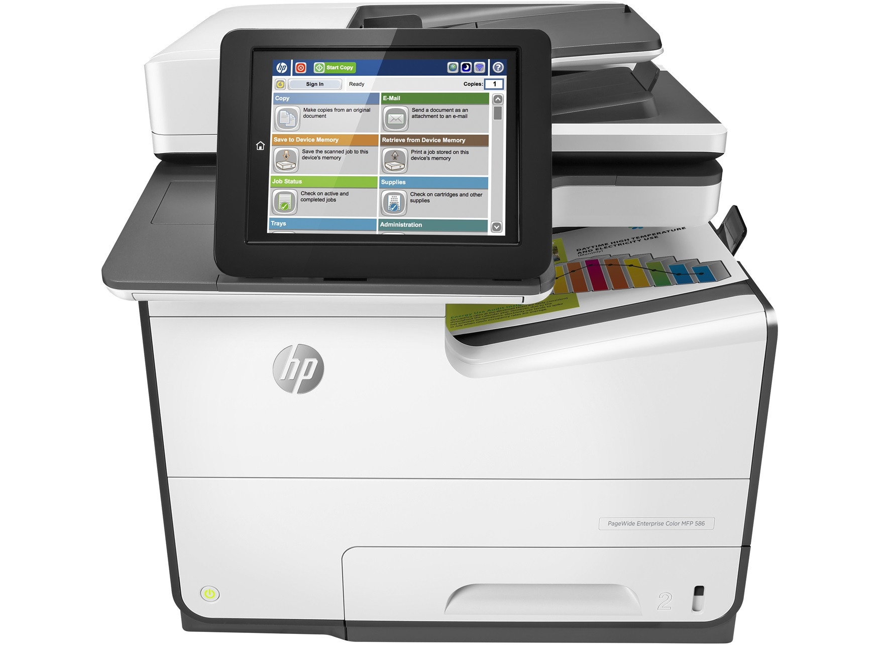 HP G1W39A/1-EX-DEMO PAGEWIDE ENTERPRISE COLOR MFP 586DN 2400 X 1200DPI THERMAL INKJET A4 50PPM
