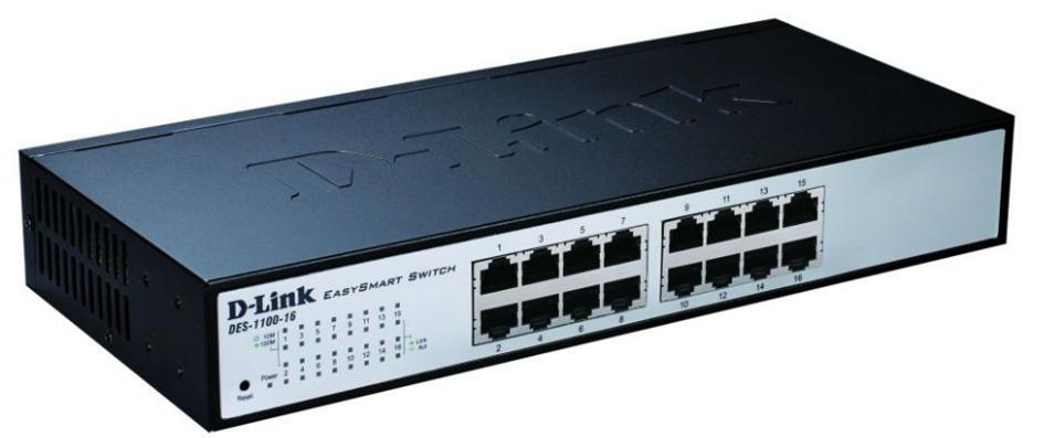 D-LINK DES-1100-16 MANAGED NETWORK SWITCH L2 BLACK