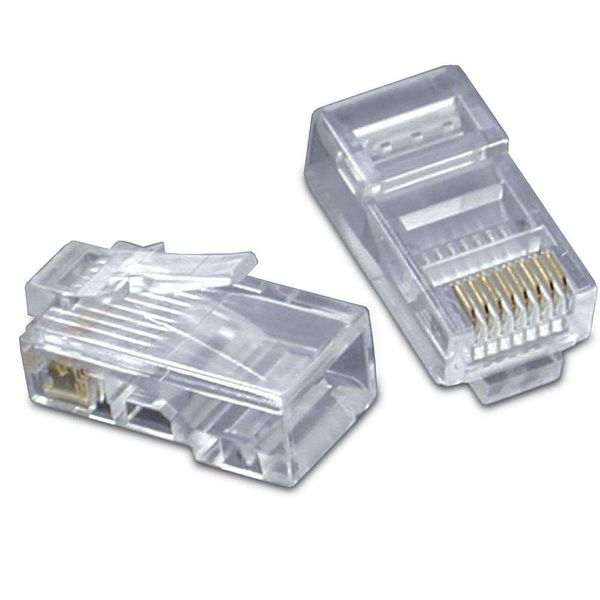 C2G RJ45 CAT5 8X8 MODULAR PLUG FOR FLAT STRANDED CABLE, 50PK
