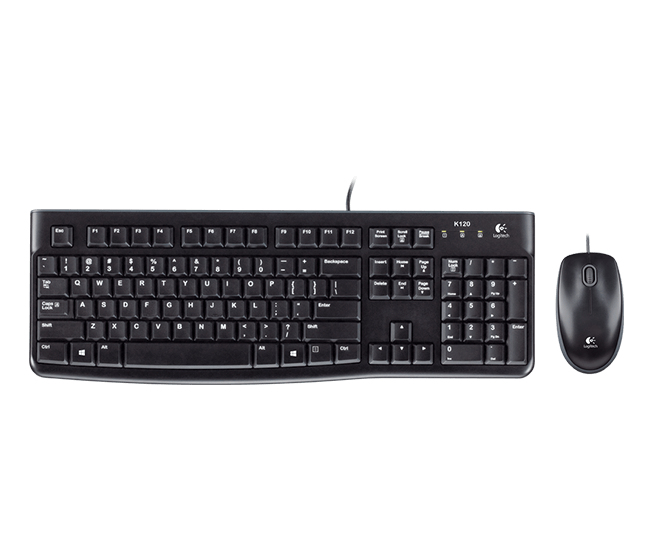 LOGITECH DESKTOP MK120 USB QWERTZ GERMAN BLACK