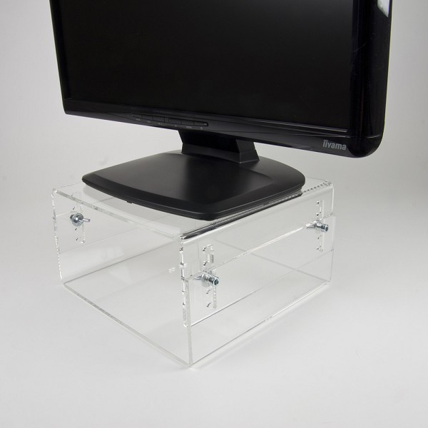 NEWSTAR NSMONITOR40 HEIGHT ADJUSTABLE TRANSPARENT MONITOR STAND (CLEAR ACRYLIC)