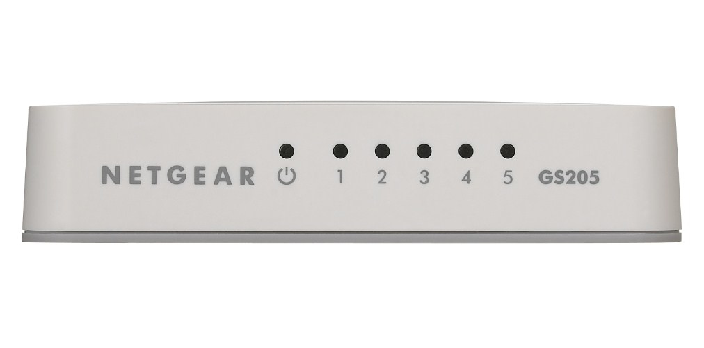 NETGEAR GS205 UNMANAGED NETWORK SWITCH GIGABIT ETHERNET (10/100/1000) WHITE