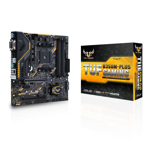 ASUS TUF B350M-PLUS GAMING AMD B350 SOCKET AM4 MICRO ATX