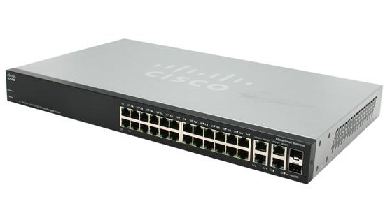 CISCO SF500-24-K9-G5 SF500-24 MANAGED NETWORK SWITCH L3 BLACK