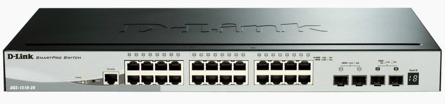 D-LINK DGS-1510-28 MANAGED NETWORK SWITCH L3 GIGABIT ETHERNET BLACK