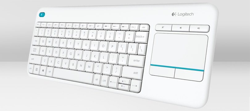 LOGITECH K400 PLUS RF WIRELESS QWERTZ GERMAN WHITE