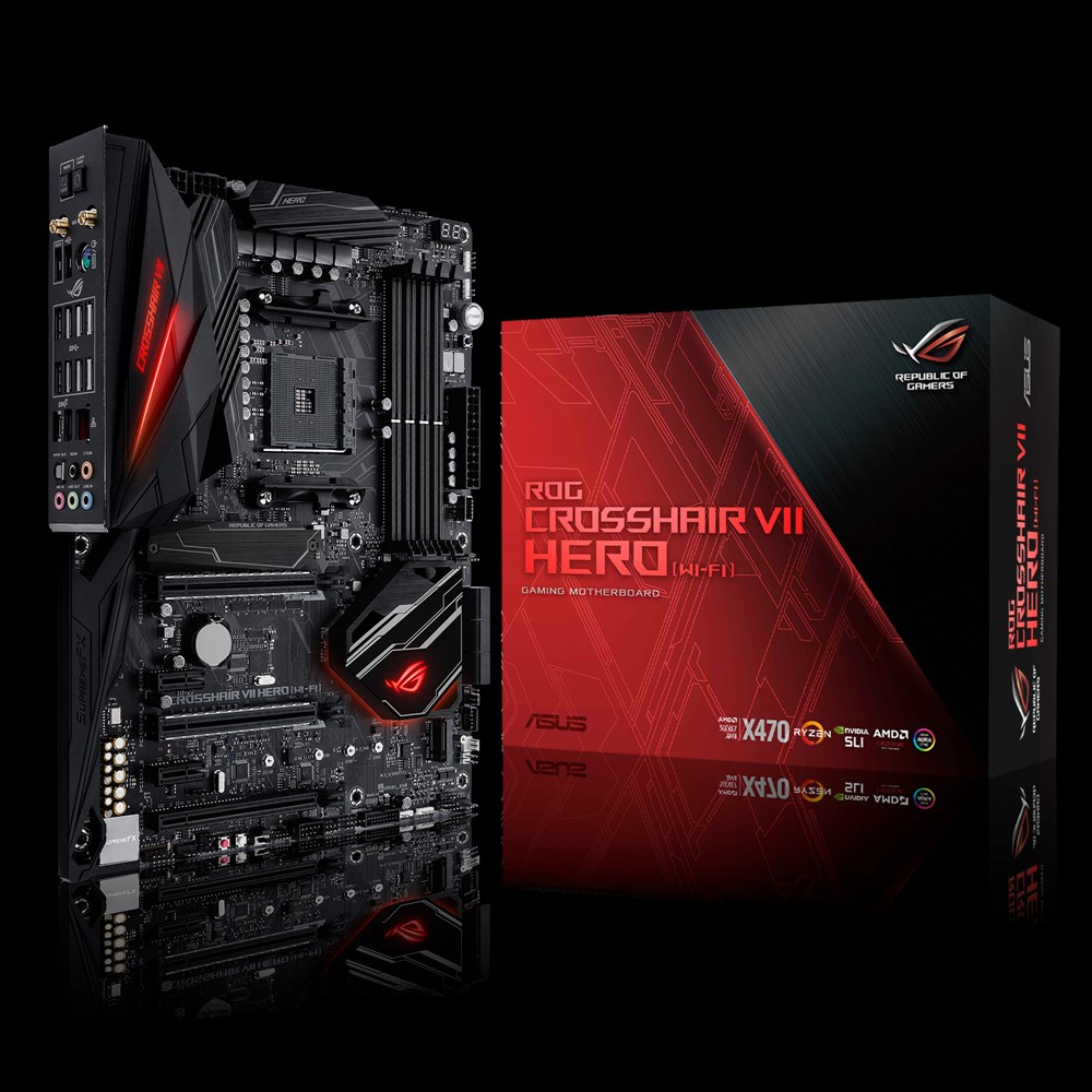 ASUS ROG CROSSHAIR VII HERO (WI-FI) AMD X470 SOCKET AM4 ATX
