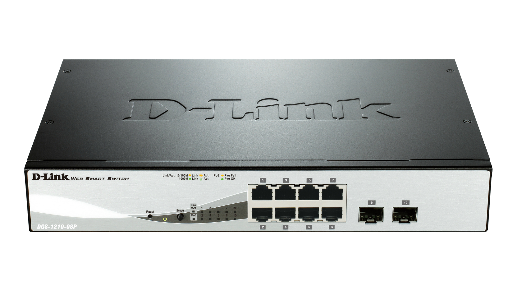 D-LINK DGS-1210-08P L2 GIGABIT ETHERNET POWER OVER (POE) BLACK NETWORK SWITCH