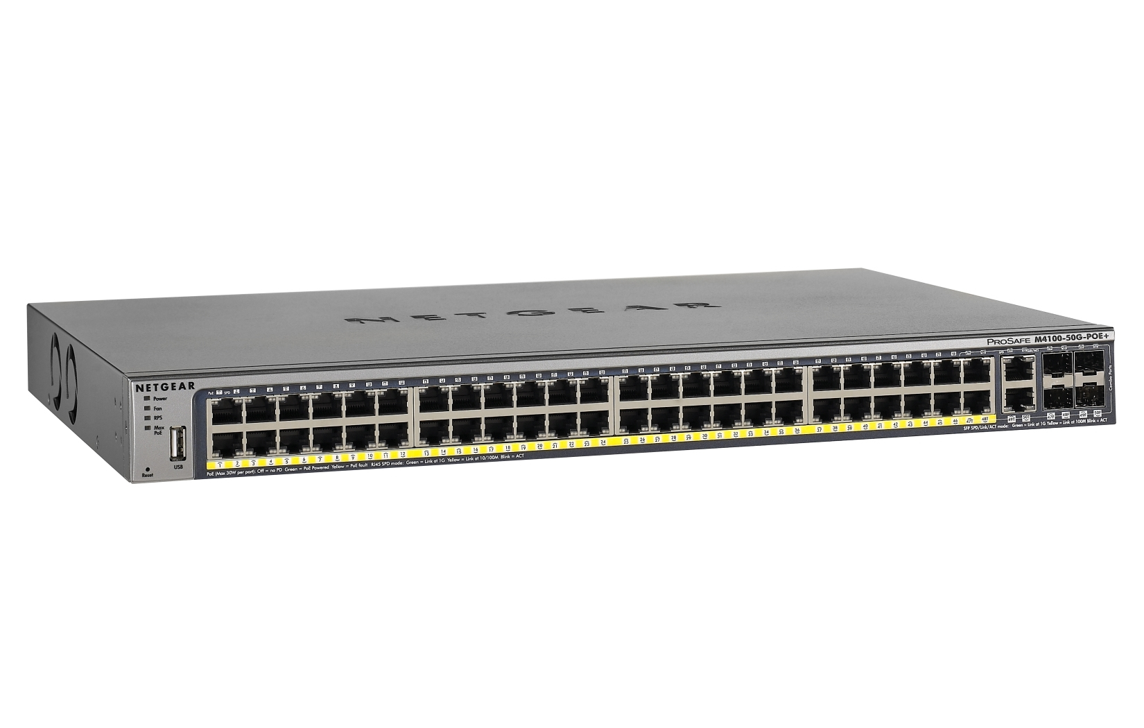 NETGEAR M4100-50G-POE+ MANAGED NETWORK SWITCH L2+ GIGABIT ETHERNET POWER OVER (POE) GREY
