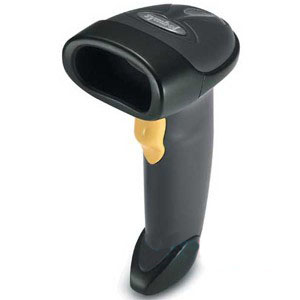 ZEBRA LS2208 BAR CODE SCANNER, 7 FT BLACK LASER