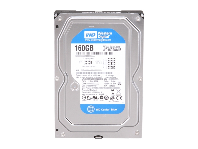 WESTERN DIGITAL CAVIAR BLUE 160GB PARALLEL ATA INTERNAL HARD DRIVE REFURBISHED