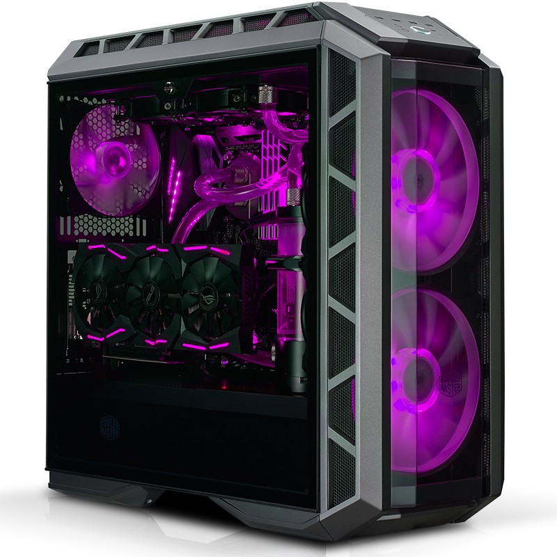 COOLER MASTER MASTERCASE H500P MIDI-TOWER BLACK, METALLIC COMPUTER CASE