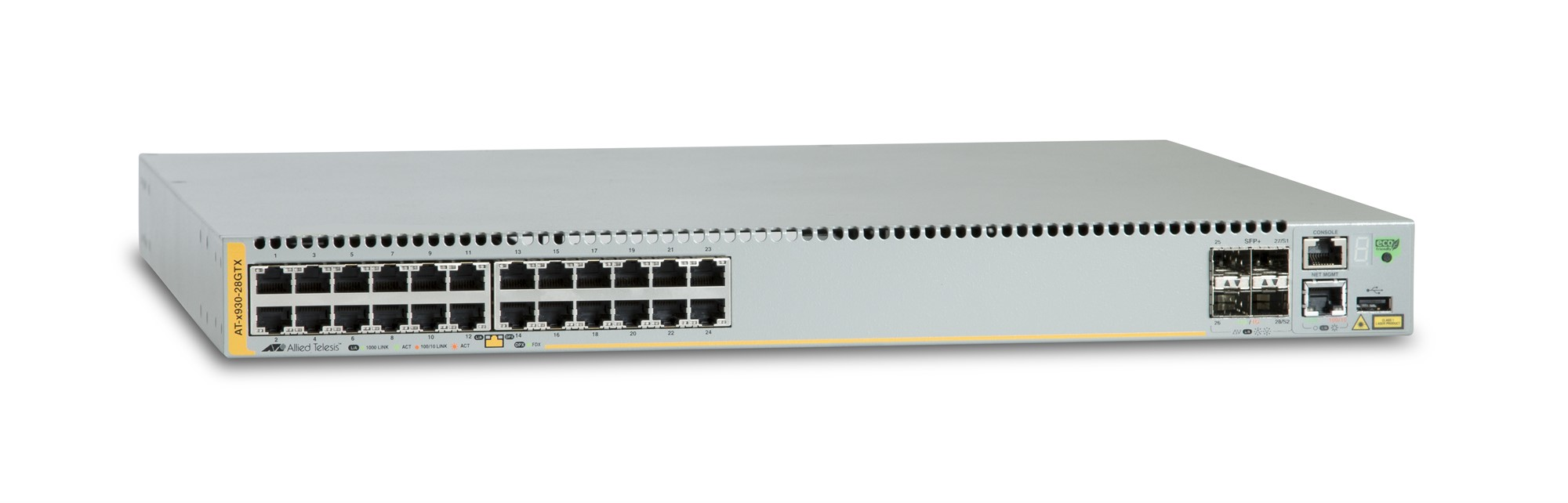 ALLIED TELESIS AT-X930-28GTX MANAGED NETWORK SWITCH L3 GIGABIT ETHERNET (10/100/1000) GREY