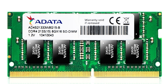ADATA 8GB DDR4 SO-DIMM 2133MHZ 204 PIN MEMORY MODULE