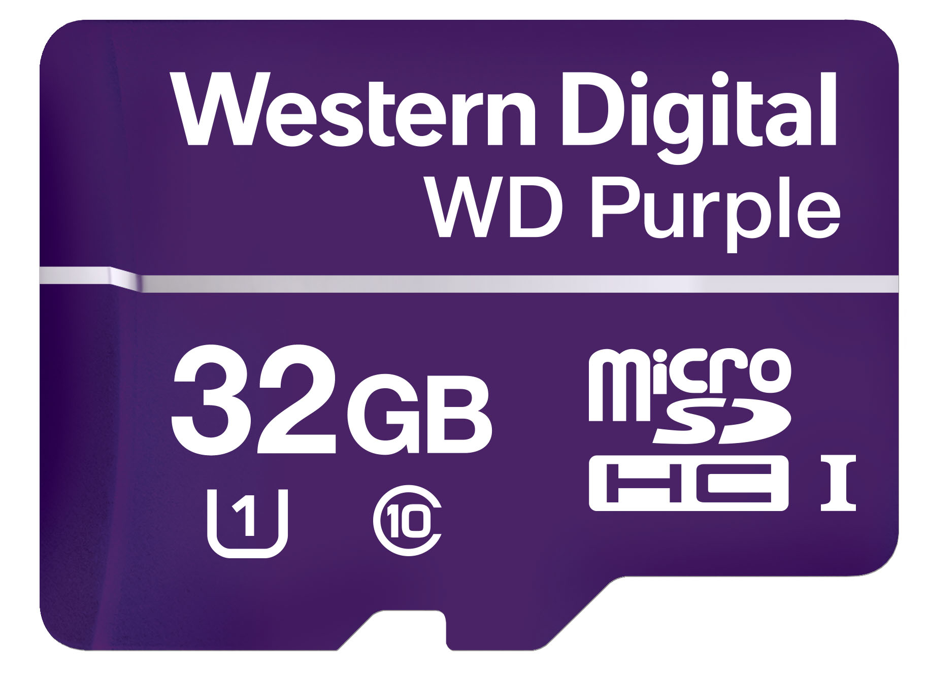 WESTERN DIGITAL PURPLE 32GB MICROSDHC CLASS 10 MEMORY CARD