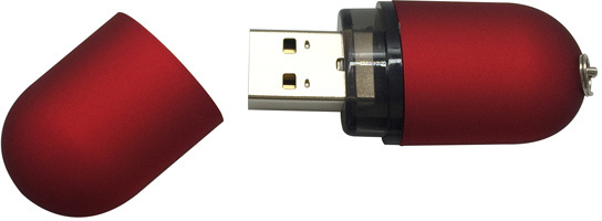 MICROMEMORY MM1001-2.0-016GB SATIN USB2.0 16GB RED